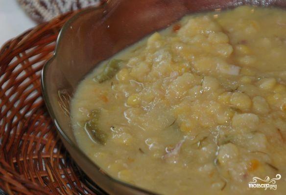гороховая каша с мясом на зиму рецепт