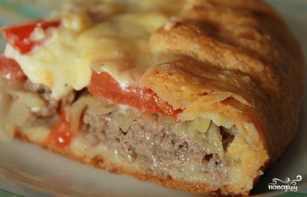 Открытый мясной пирог
