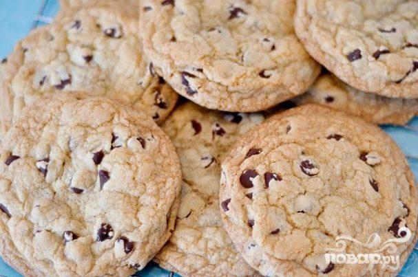Печенье с шоколадом и ванилью