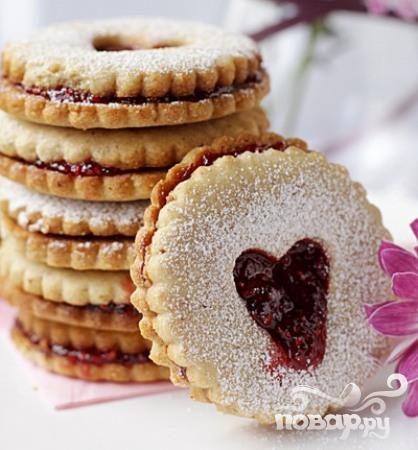 Австрийское Линцерское печенье