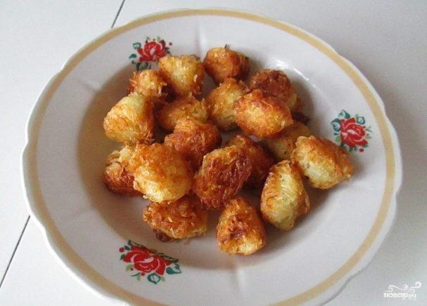 Картофельные шарики на сковороде