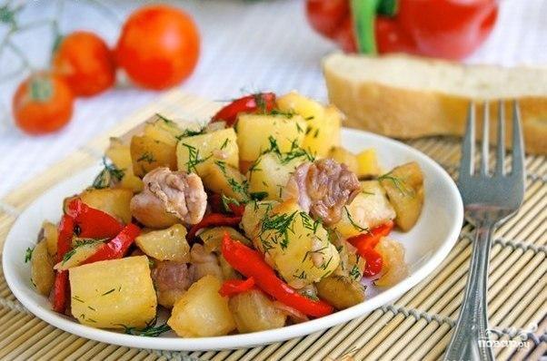 Овощное рагу с куриной грудкой — рецепт с фото пошагово