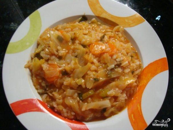 Рагу с рисом и капустой