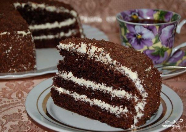 Торт из варенья черной смородины