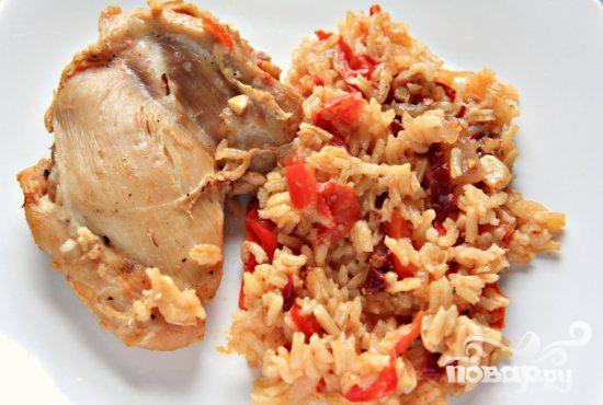 Курица с чипотл и рисом