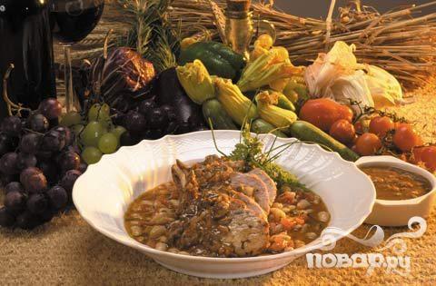 Тосканская свинина с фасолью