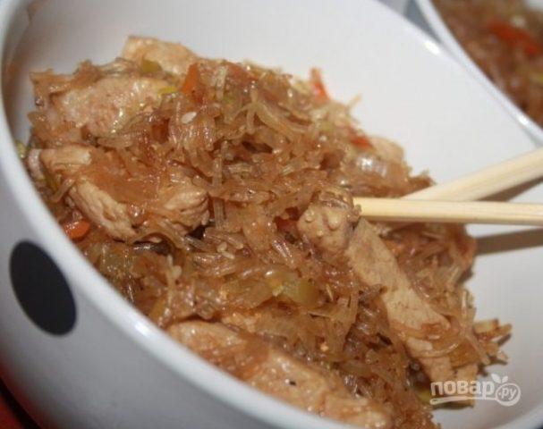 Китайская лапша со свининой