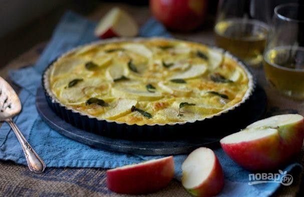 Тарт с яблоками и сыром