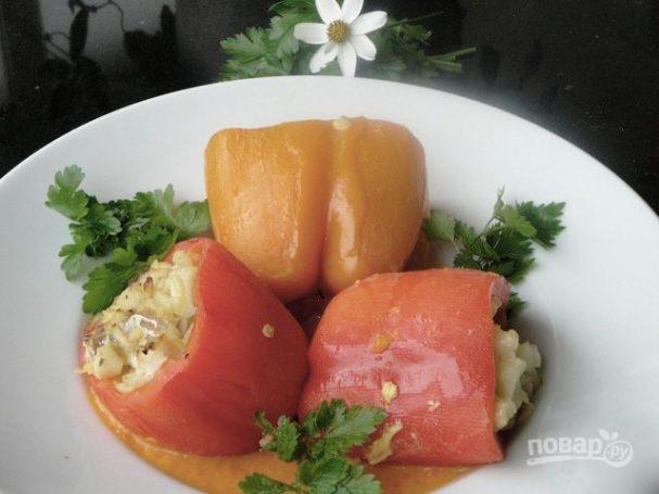 Перец под сливочным соусом