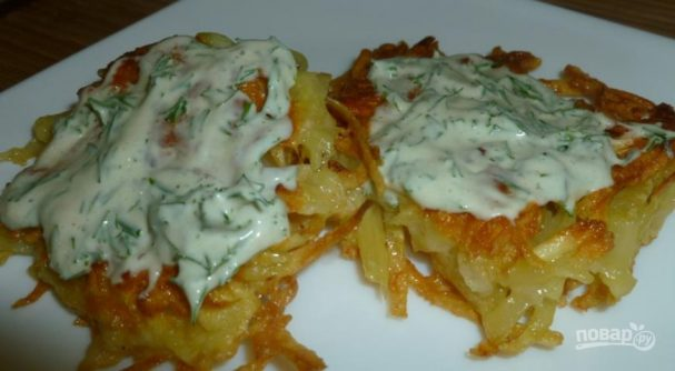 Картофельные драники с сыром