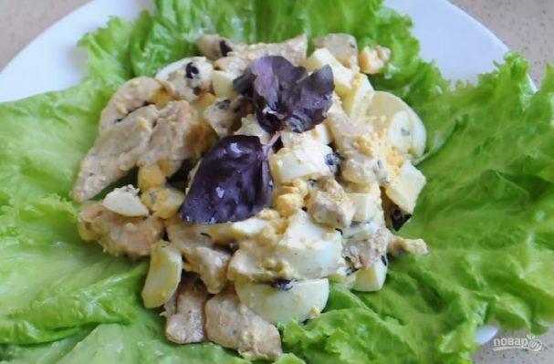 Теплый белковый салат (фитнесс-рецепт)