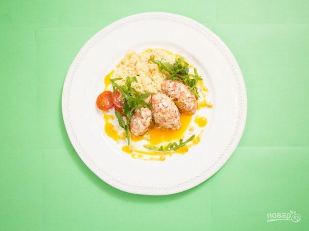 Мясо краба под соусом