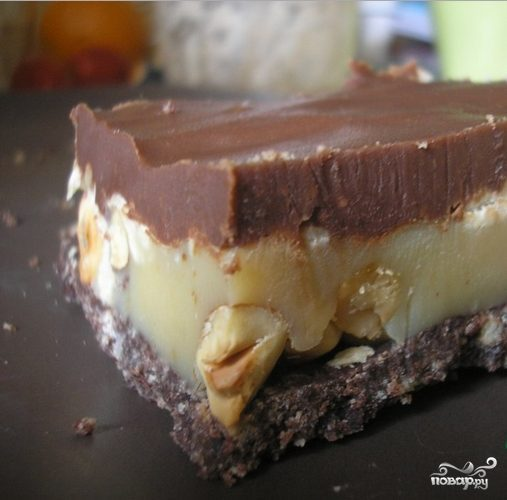 Шоколадно-карамельные пирожные