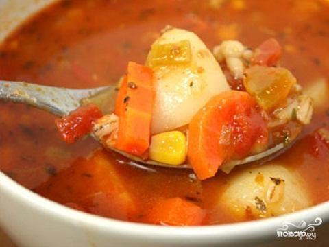 Овощной суп с перловкой
