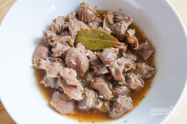 Куриные желудочки в духовке