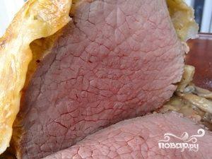 Мясо в тесте в духовке