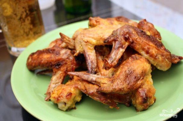 Крылышки куриные в медово-горчичном соусе