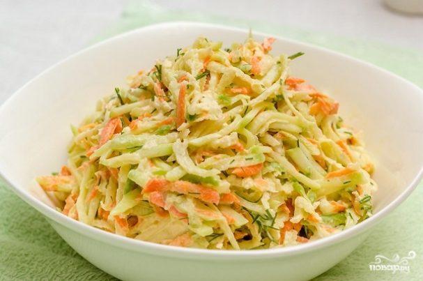 Салат с зеленой редькой и морковью