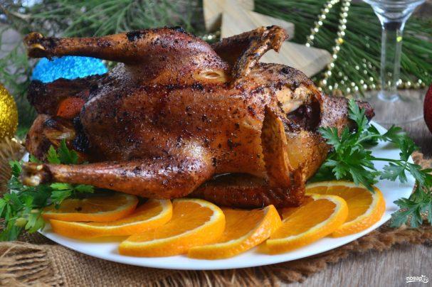 Курица новогодняя в духовке