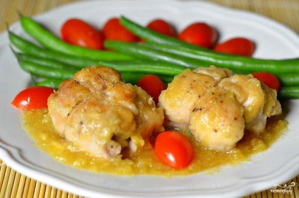 Филе цыплят с сыром и ананасом