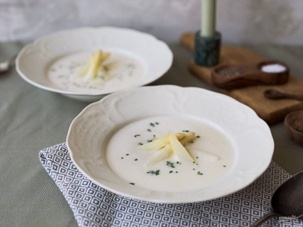 Крем-суп из белой спаржи