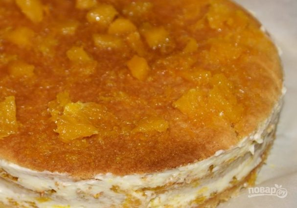 """Торт """"Сочный апельсин"""""""