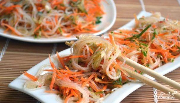 Салат из фунчозы с овощами рецепт пошагово в 13