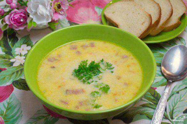 сырный суп с сыром пошаговый рецепт