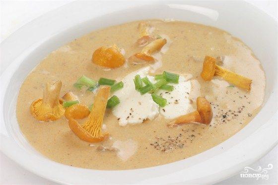 рецепт сырный суп с лисичками