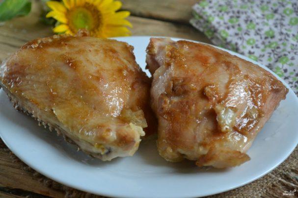 Куриные бедра с горчицей в духовке