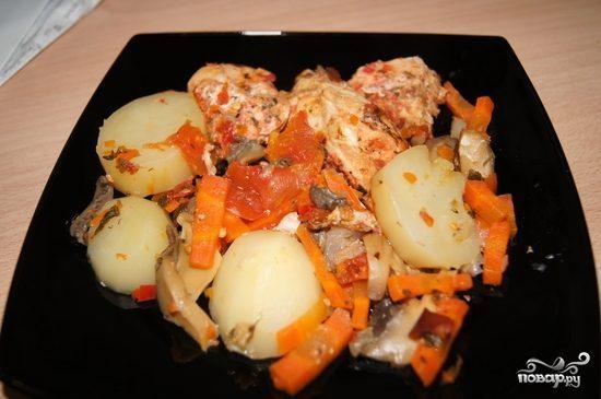 Курица с овощами в скороварке