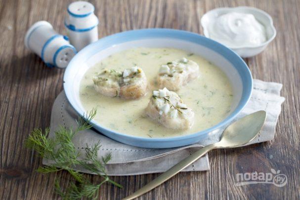 Рыбный суп с укропом