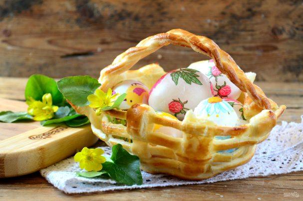 Съедобная корзинка для пасхальных яиц