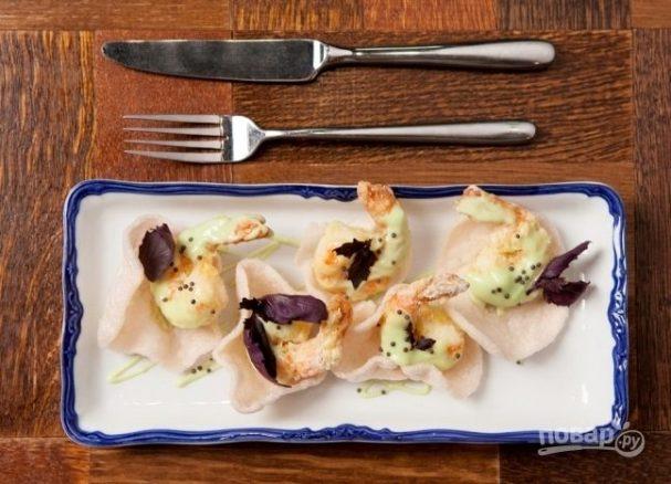 Креветки в соусе васаби со сгущенкой рецепт с фото еда