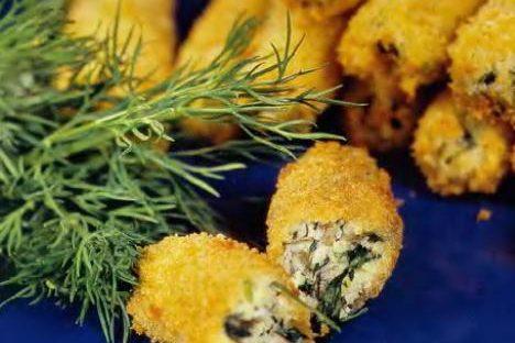 """""""Пальчики"""" из щавеля, кинзы и сыра."""