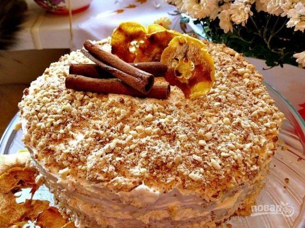 Торт с кремом из маскарпоне