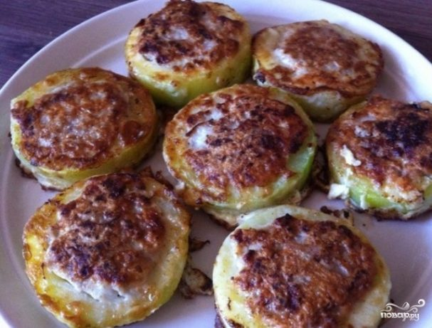 рецепт кабачки с фаршем в кляре на сковороде
