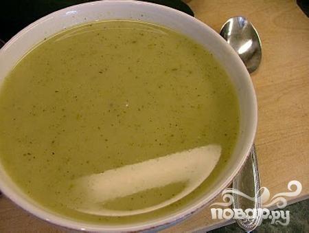 Летний суп-пюре из картофеля и цукини