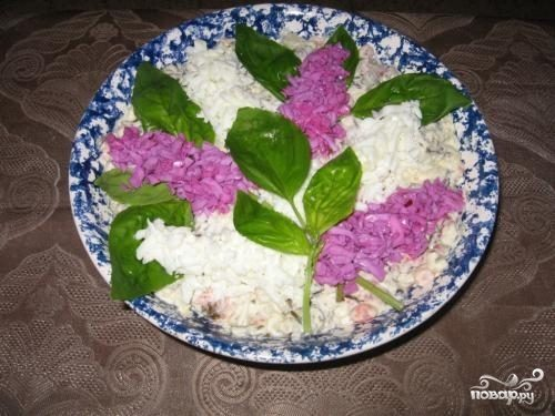 салат букет сирени рецепт