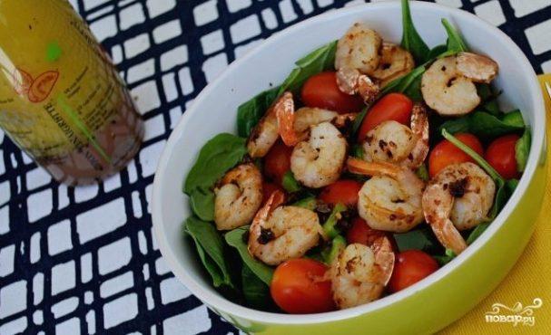 Заправка для салата с рукколой и креветками