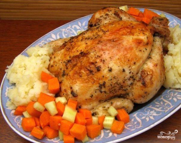 Цыпленок в фольге в духовке