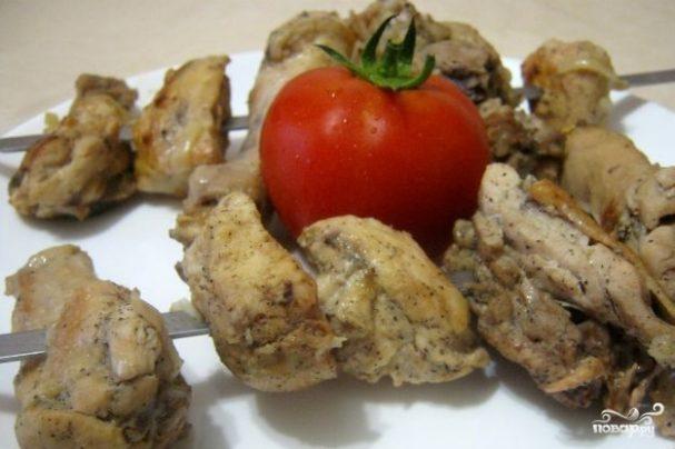 Шашлык из курицы с уксусом