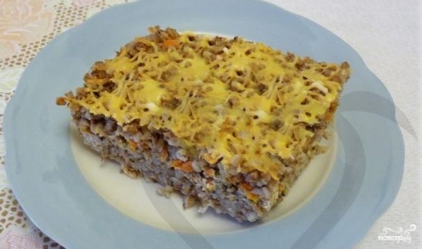рецепт приготовления гречки с фаршем