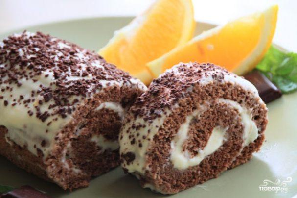 Шоколадно-апельсиновый рулет