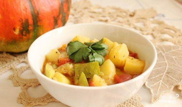 Рагу из телятины с овощами