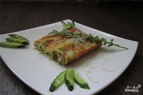 Каннеллони с творогом и сыром