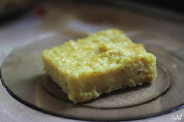 Рисовая запеканка с цветной капустой и сыром
