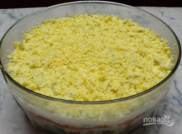 """Салат """"Мимоза"""" (простой праздничный салат)"""