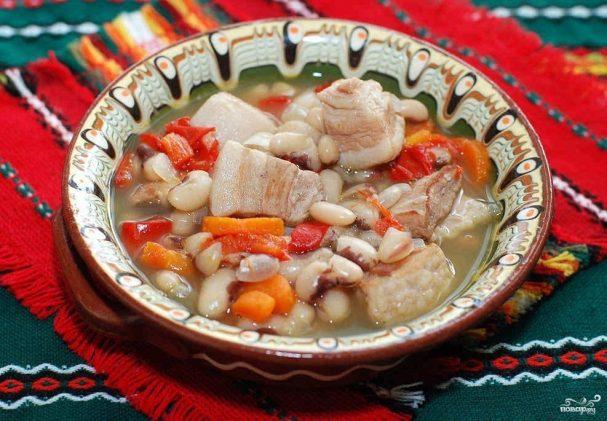 фасолевый суп из белой фасоли со свининой рецепт