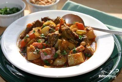 говядина тушеная в духовке с овощами рецепт с фото